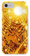 Printed Circuit Board, Artwork IPhone Case by Mehau Kulyk