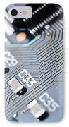 Printed Circuit Board Components IPhone Case by Arno Massee