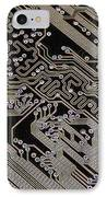 Printed Circuit Board, Computer Artwork IPhone Case by Pasieka