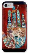 Psychic Hand IPhone Case by Mary DeLave