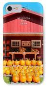 Pumpkin Barn IPhone Case by Rachel Cohen