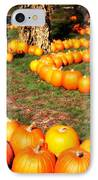 Pumpkin Patch Path IPhone Case by Carol Groenen