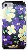 Purple And Yellow Flowers IPhone Case by Monika Shepherdson