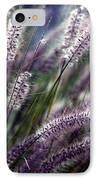 Purple Ornamental Fall Grass IPhone Case by Marjorie Imbeau
