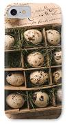Quail Eggs In Box IPhone Case by Garry Gay