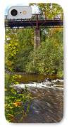 Railroad Bridge 7827 IPhone Case by Michael Peychich
