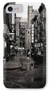 Rain - Pell Street - New York City IPhone Case by Vivienne Gucwa