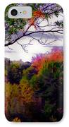 Rainbow Treetops IPhone Case by DigiArt Diaries by Vicky B Fuller
