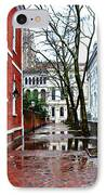 Rainy Philadelphia Alley IPhone Case by Bill Cannon