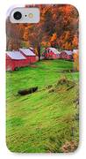 Reading Vermont Scenic IPhone Case by Thomas Schoeller