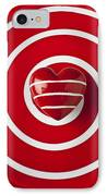 Red Heart Soft Stone IPhone Case by Garry Gay