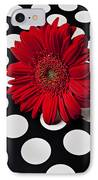 Red Mum With White Spots IPhone Case by Garry Gay