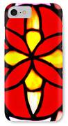 Red Stained Glass IPhone Case by LeeAnn McLaneGoetz McLaneGoetzStudioLLCcom