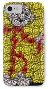 Reddy Kilowatt Bottle Cap Mosaic IPhone Case by Paul Van Scott