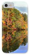 Reflections Of Autumn IPhone Case by Susan Leggett