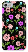 Retro Florals IPhone Case by Louisa Knight