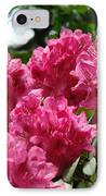 Rhododendrons Garden Art Prints Pink Rhodies Floral IPhone Case by Baslee Troutman