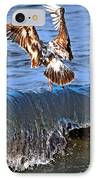 Riding The Wave  IPhone Case by Debra  Miller