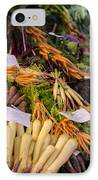 Root Vegetables At The Market IPhone Case by Heather Applegate