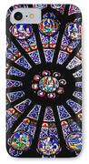 Rose Window In The Notre Dame Cathedral IPhone Case by Axiom Photographic