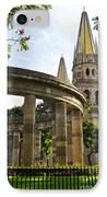 Rotunda Of Illustrious Jalisciences And Guadalajara Cathedral IPhone Case by Elena Elisseeva