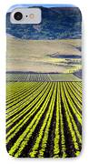 Rural Landscape With Planted Crops IPhone Case by David Buffington