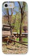 Rustic Wagon At Historic Lonely Dell Ranch - Arizona IPhone Case by Gary Whitton