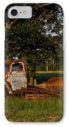Rusty Truck And Tank IPhone Case by Douglas Barnett