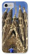 Sagrada Familia Barcelona Spain IPhone Case by Matthias Hauser