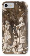 Sagrada Familia Nativity Facade Detail IPhone Case