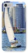 Sailboat In Toronto Harbor IPhone Case by Elena Elisseeva