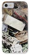 Scrap Metal In Scrap Yard IPhone Case by Jeremy Woodhouse