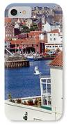 Seagull At Whitby Harbor IPhone Case by Axiom Photographic