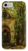 Shaded Chapel. Golden Green Series IPhone Case