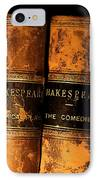 Shakespeare Leather Bound Books IPhone Case