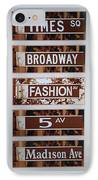Signs Of New York IPhone Case by Rob Hans