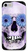 Skull Art - Day Of The Dead 3 IPhone Case