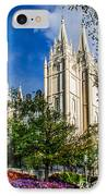 Slc Nw View IPhone Case by La Rae  Roberts