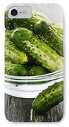 Small Cucumbers In Bowl IPhone Case by Elena Elisseeva