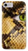 Snake Eye IPhone Case by Semmick Photo