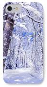 Snowy Path IPhone Case by Rob Travis
