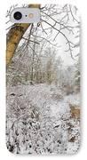 Snowy Watercolor IPhone Case by Debra and Dave Vanderlaan