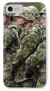 Soldiers From The Japan Ground Self IPhone Case by Stocktrek Images