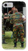 Soldiers Of A Belgian Infantry Unit IPhone Case