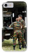 Soldiers Of An Infantry Section IPhone Case by Luc De Jaeger