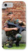 Soldiers Of The Belgian Army Helping IPhone Case by Luc De Jaeger