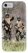 Soldiers Perform A Site Survey In Camp IPhone Case