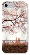 Spring Cherry Blossoms - Central Park Reservoir IPhone Case by Vivienne Gucwa