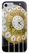 Standard Time Zone Clock. IPhone Case by Mark Williamson