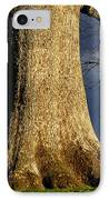 Standing Strong Oak Tree And Storm Clouds IPhone Case by Thomas R Fletcher